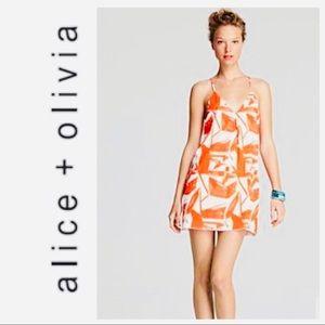 Alice + Olivia Fierra Silk Racerback Slip Dress